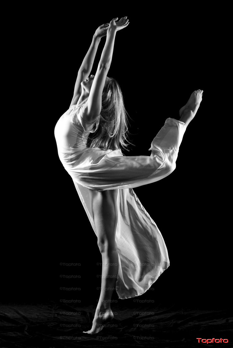 The Dancer in Black and White